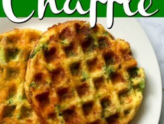Broccoli and Cheese Chaffle