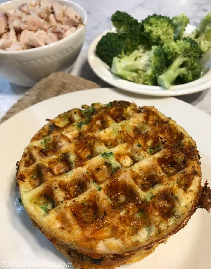 Cheddar Chicken and Broccoli Chaffle