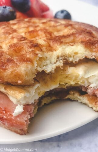 Keto Chaffle breakfast sandwich bread