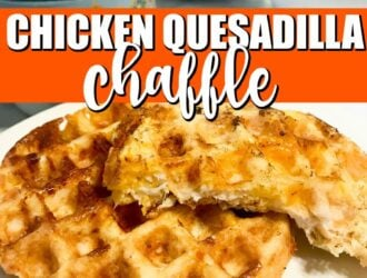 Keto Chicken Quesadilla Chaffle