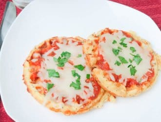 Mini Keto Pizza on a plate