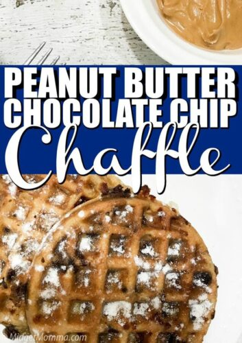 Peanut butter chocolate chip chaffle