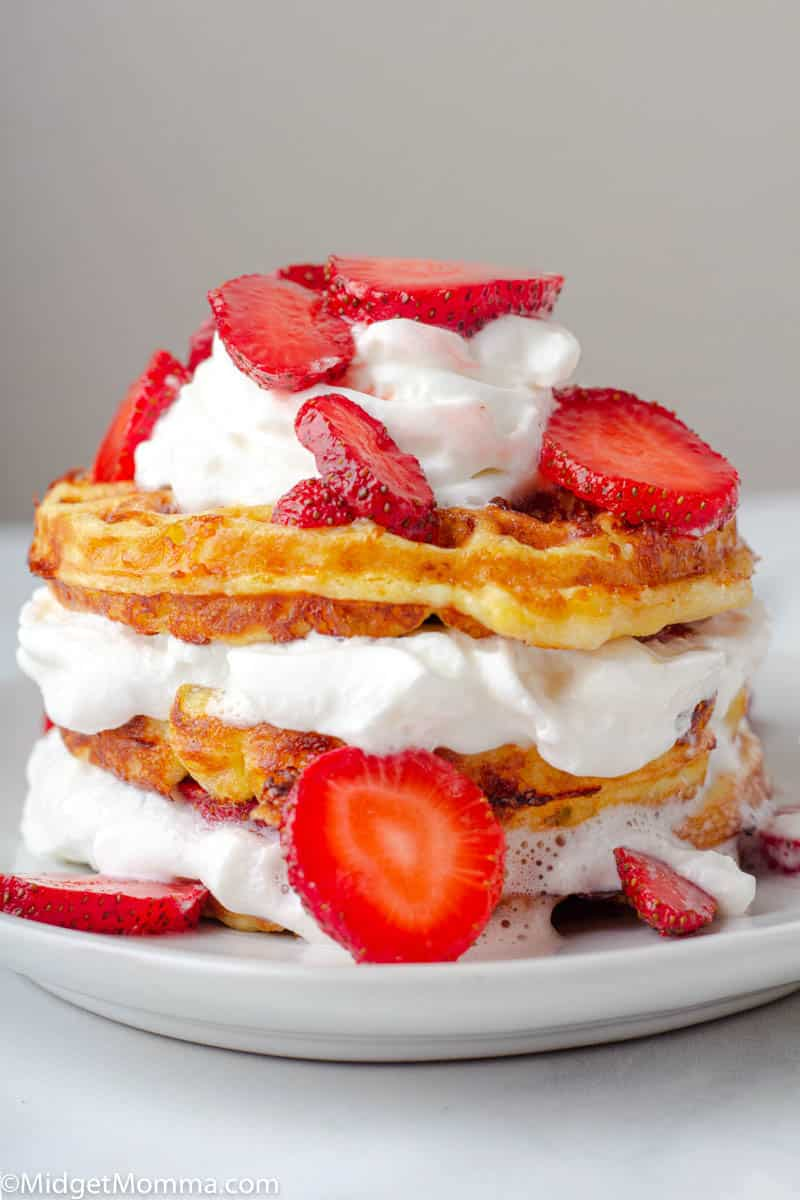 Strawberry shortcake dessert chaffle