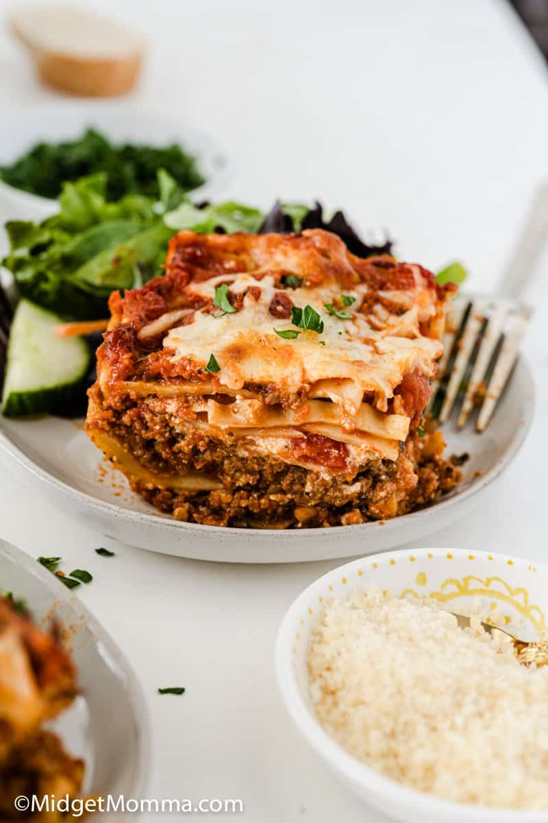 Slice of The BEST Homemade Lasagna Recipe