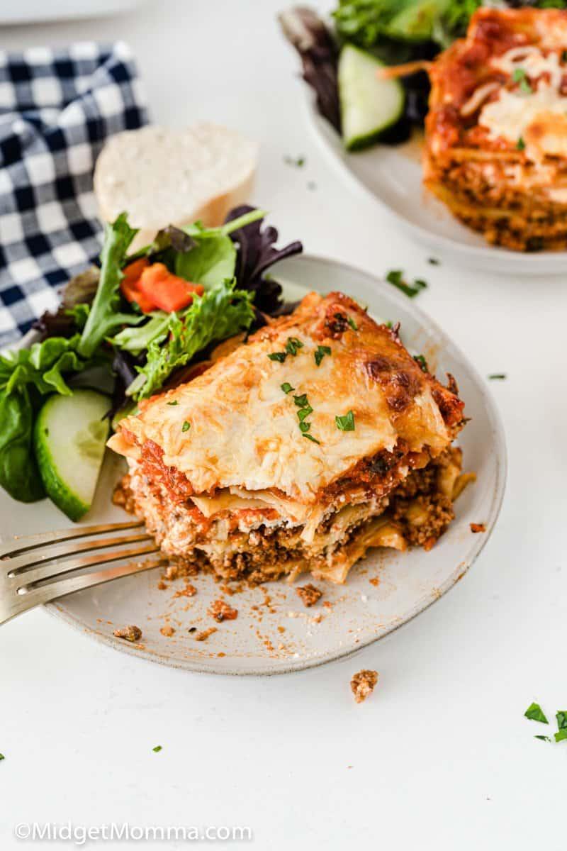 overhead shot of Homemade Lasagna
