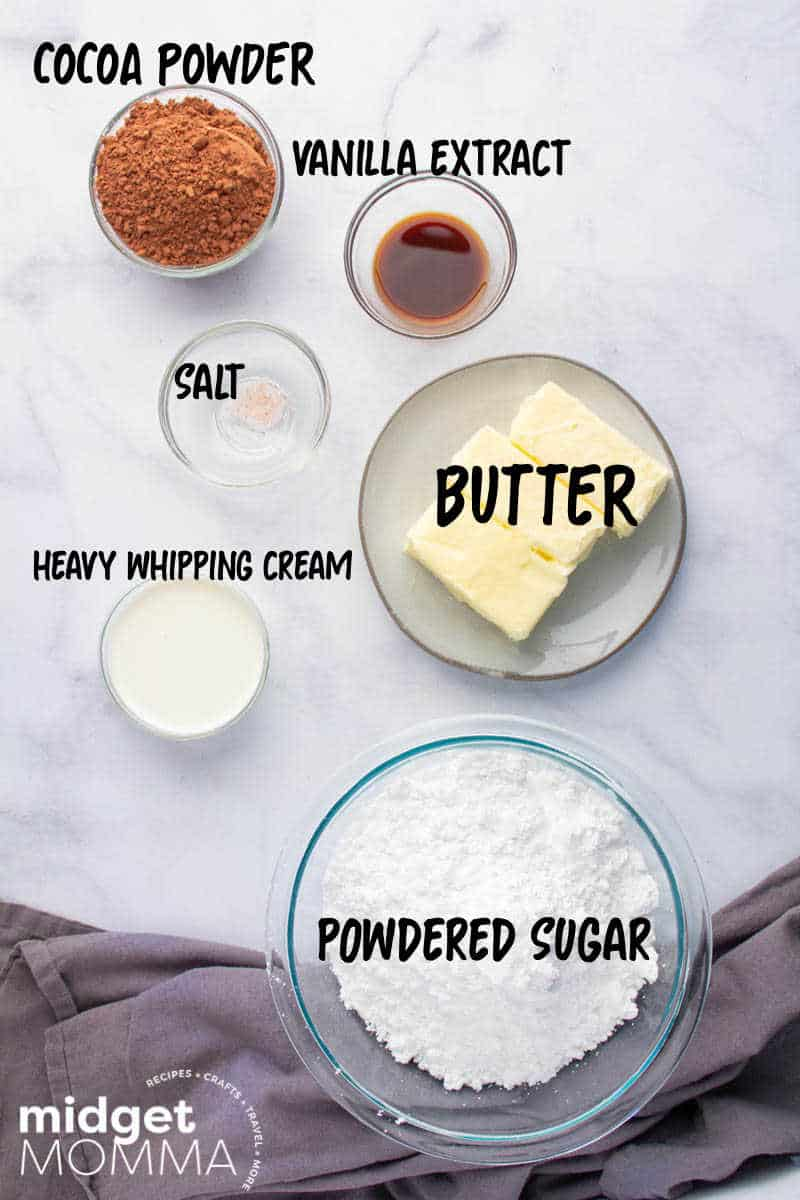 chocolate buttercream frosting INGREDIENTS