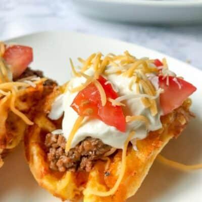 keto chaffle taco shell