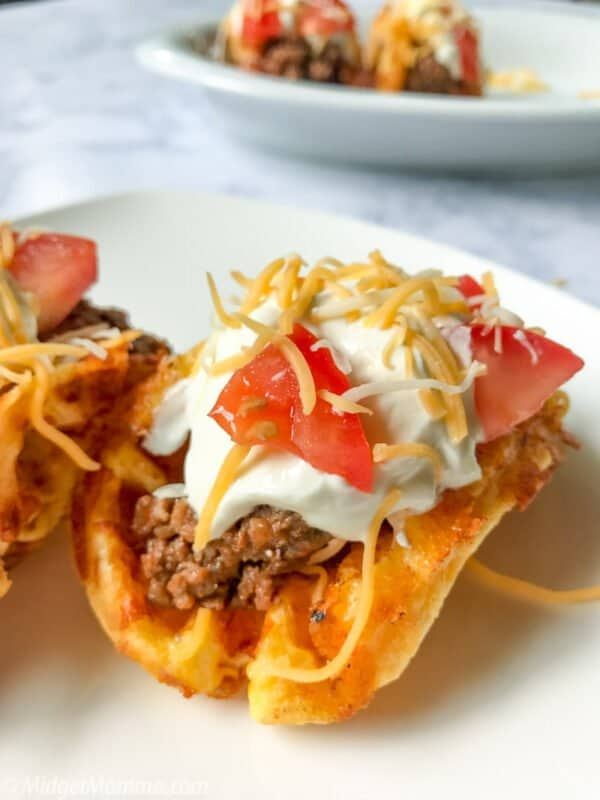 Keto Chaffle Taco Shells Recipe • MidgetMomma