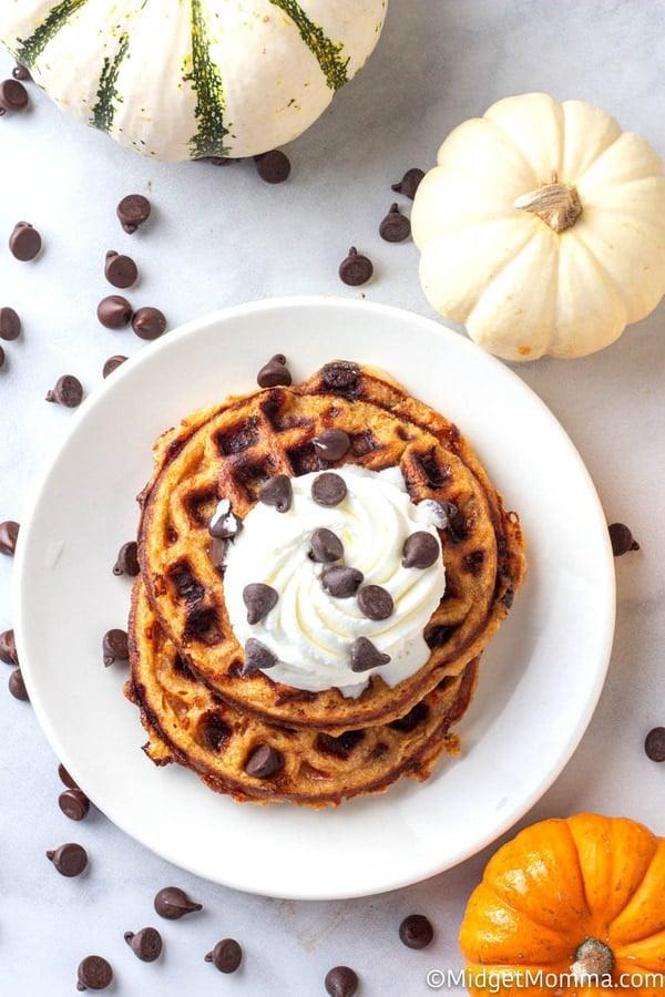 Pumpkin Chocolate Chip Chaffles