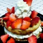 Strawberry shortcake chaffle