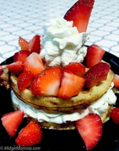 Strawberry shortcake chaffle