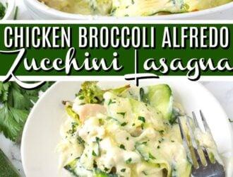 Chicken Broccoli Alfredo Zucchini Lasagna Recipe