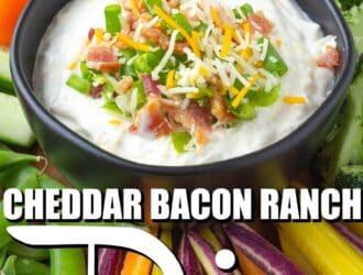 Cheddar Bacon Ranch Crack Dip