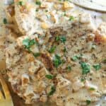 Creamy Roasted Garlic Pork Chops Recipe
