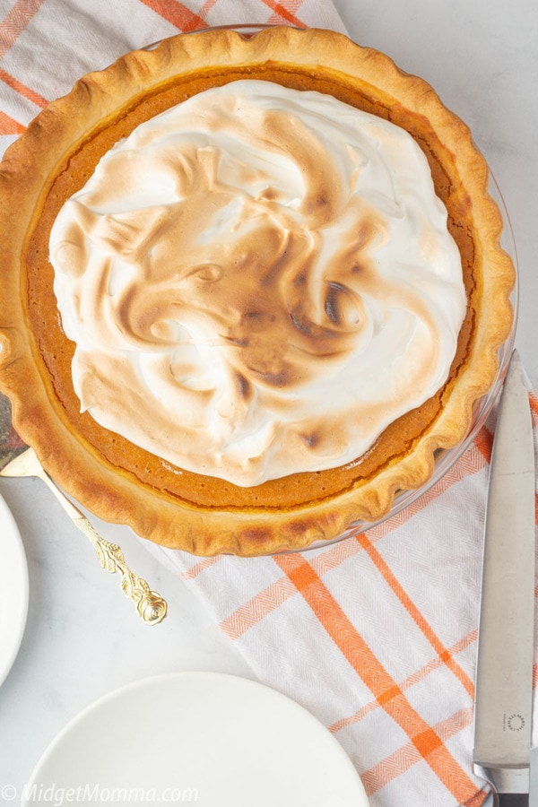 Sweet Potato Pie with Marshmallow Meringue Toppping