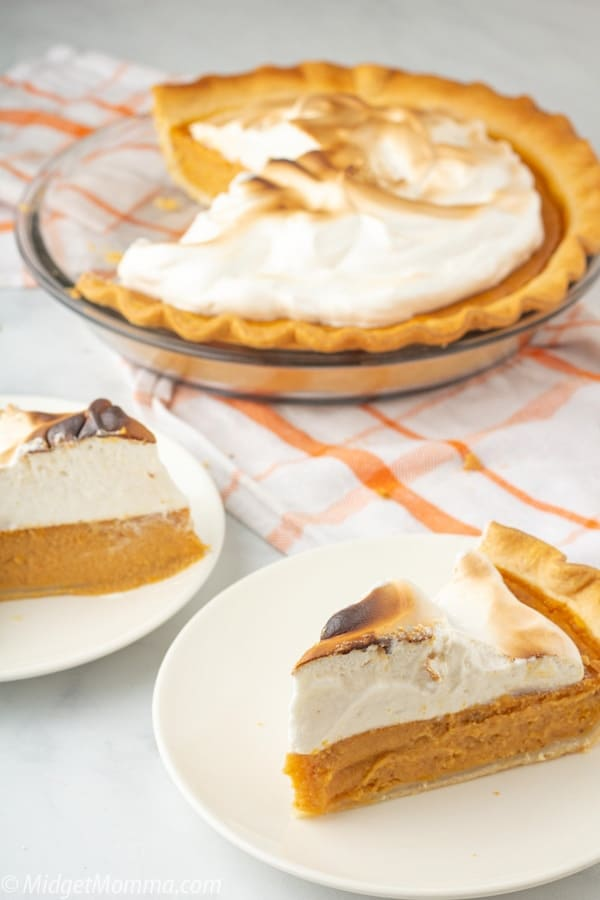 easy Sweet Potato Pie with Marshmallow Meringue Toppping