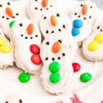 Chocolate Dipped Nutter Butter Snowman Cookie