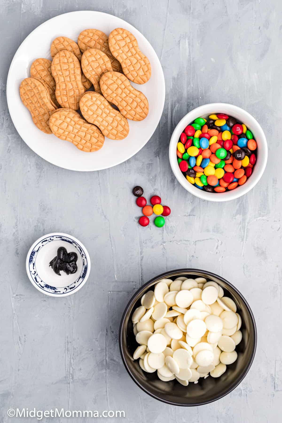 Snowman Cookie Ingredients