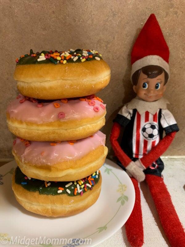elf on the shelf donut tower