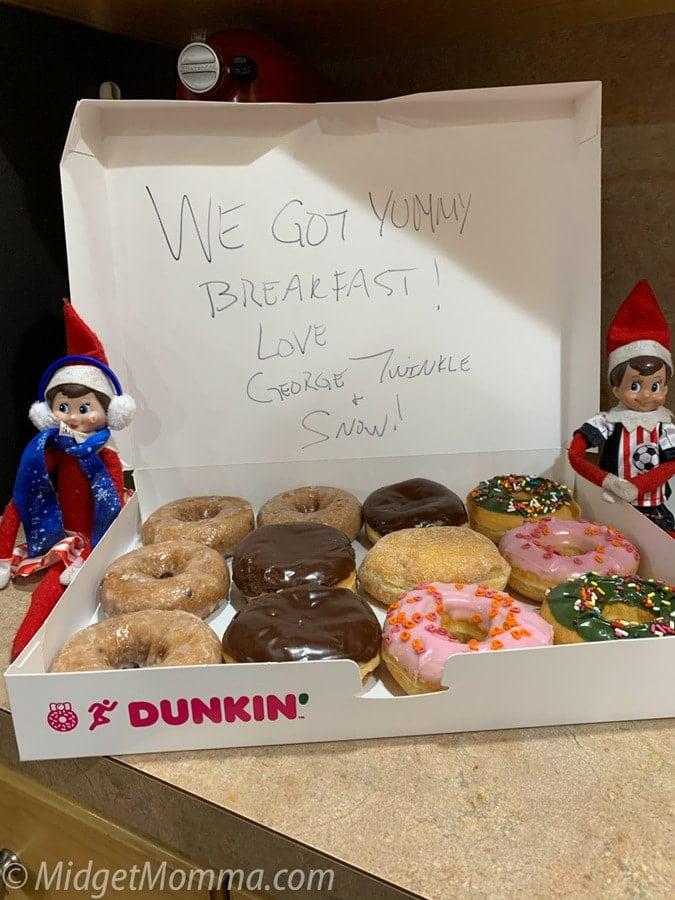 elf on the shelf donut breakfast