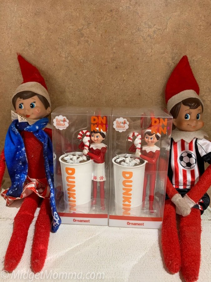 Easy Elf on the shelf idea for kids - dunkin donuts elf on the shelf ornament