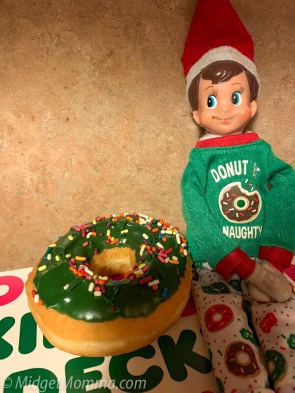 elf on the shelf elf donuts pjs
