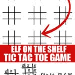 Elf on the Shelf Tic Tac Toe Game Printable
