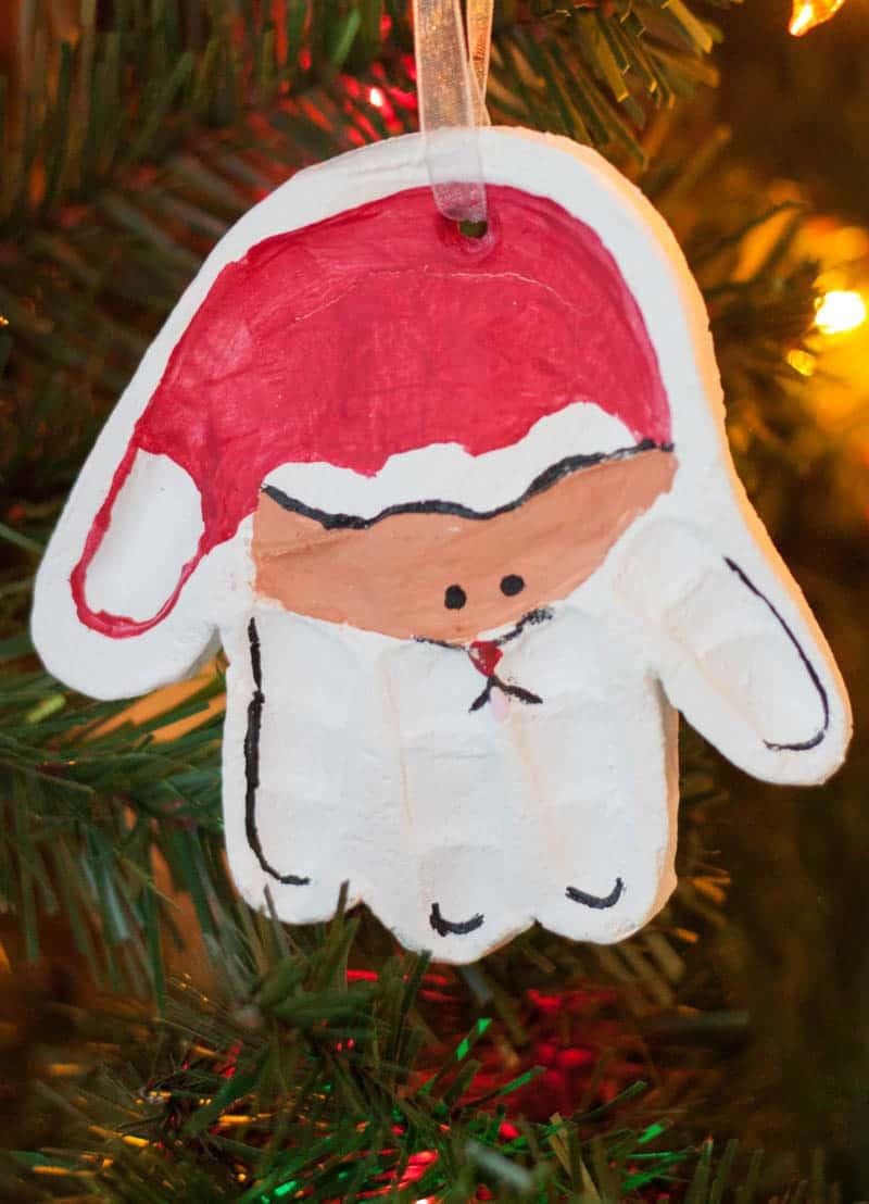 Santa Handprint Ornament