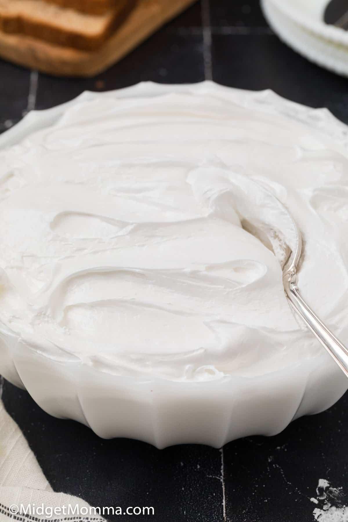 bowl of Homemade Marshmallow Fluff Recipe