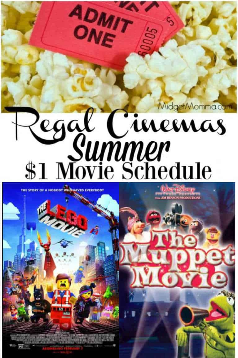 Regal Summer Movies - Summer Movies for just $1!