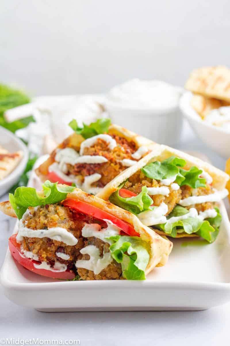 Falafel Wraps on a platter