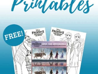 Frozen 2 Movie Coloring and Activity Sheet Printables