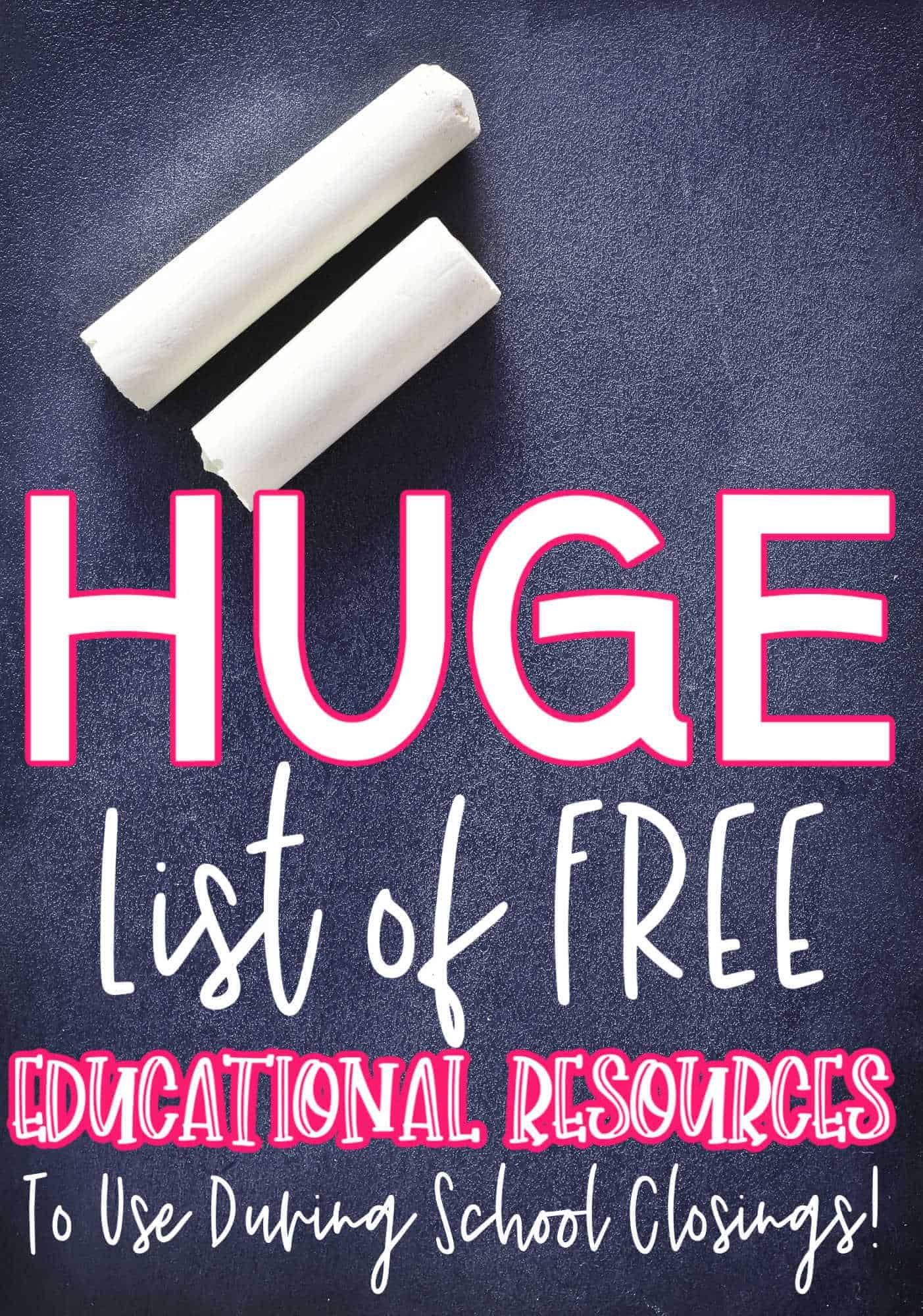 Educational Freebies to use at home