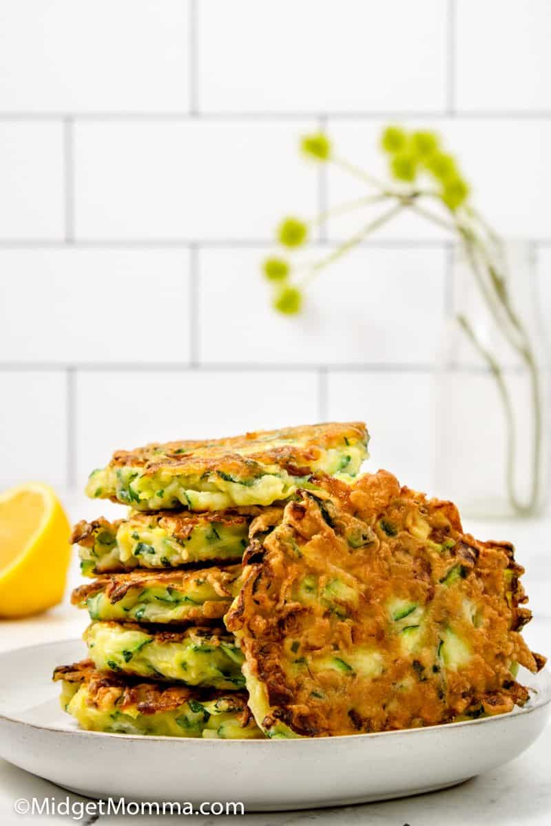 Zucchini Fritters Recipe stacked