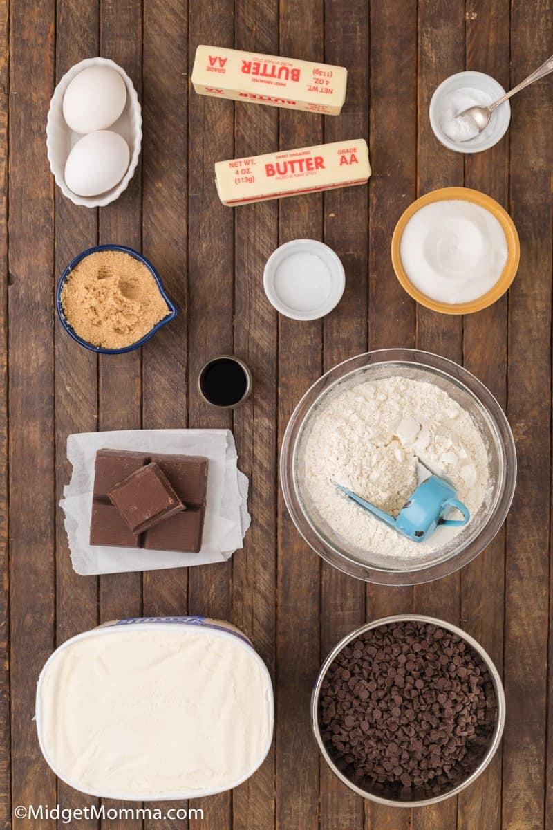 Chocolate Chip Cookie Ice Cream Sandwiches ingredients