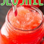 Cherry Homemade Slushie