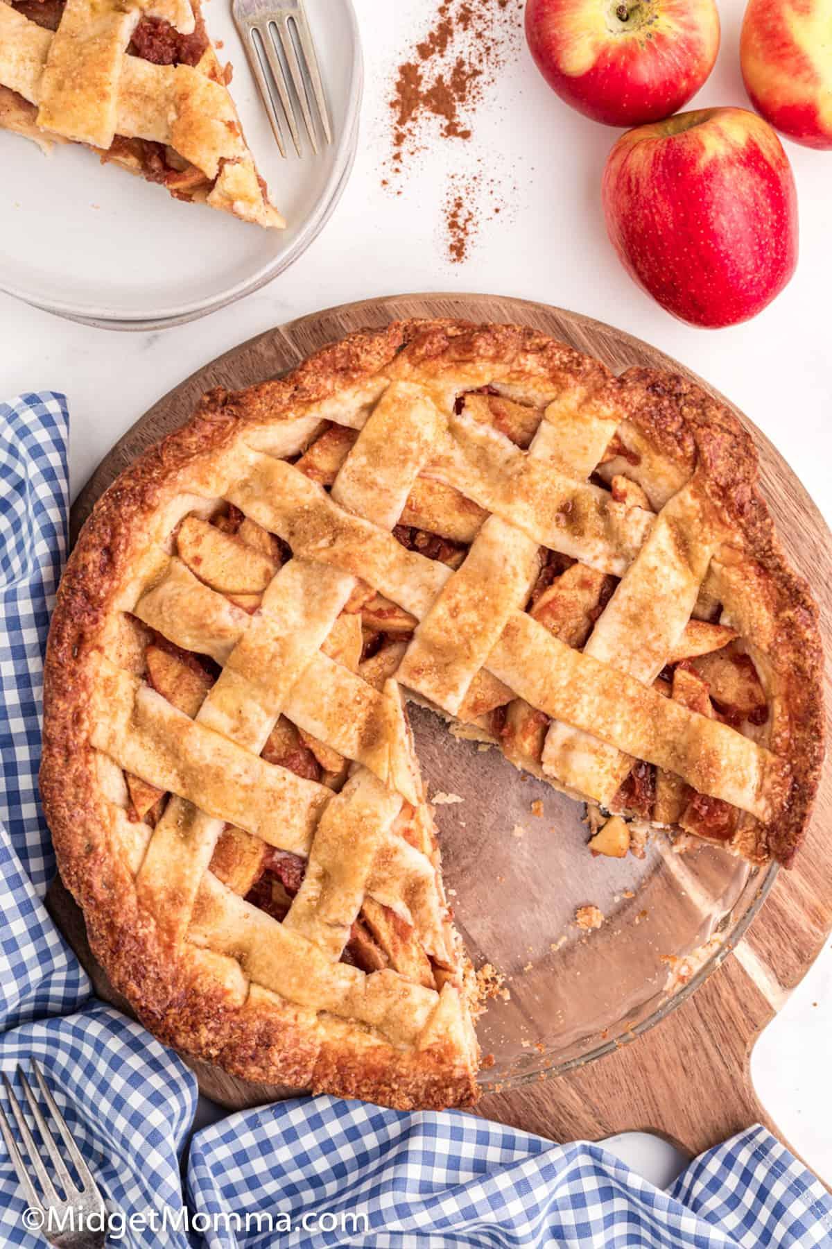 Lattice Cinnamon Apple Pie Recipe