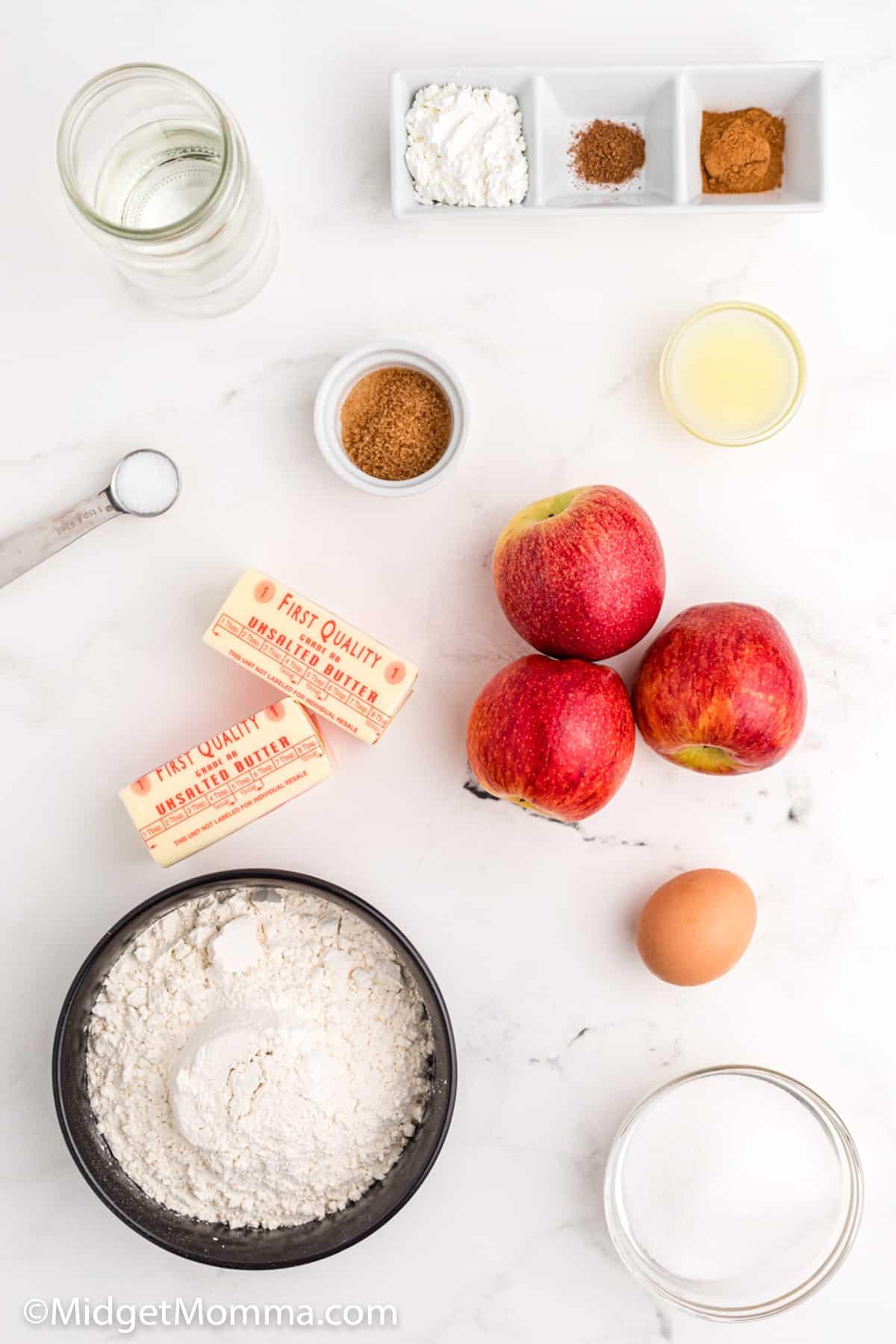 Lattice Cinnamon Apple Pie Recipe ingredients