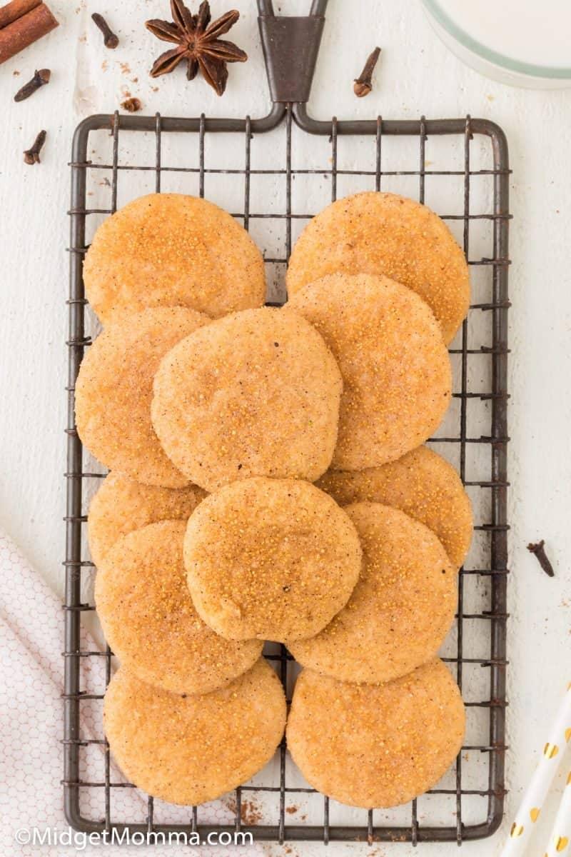 overhead photo of  Pumpkin Snickerdoodle Cookies