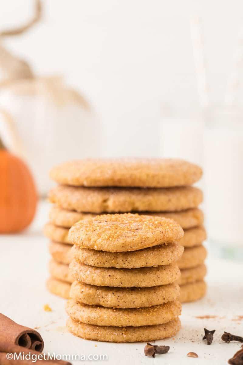 stacks  of  Pumpkin Snickerdoodle Cookies