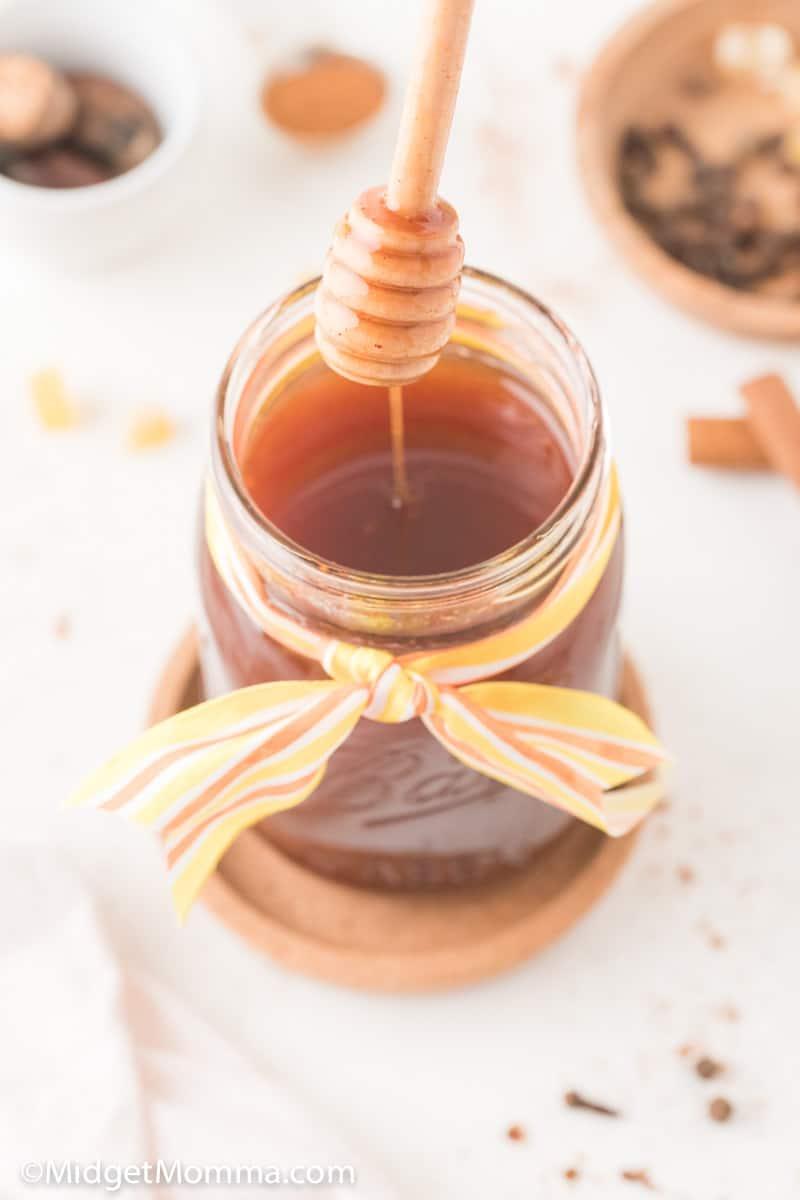 Pumpkin Spice Syrup in a jar