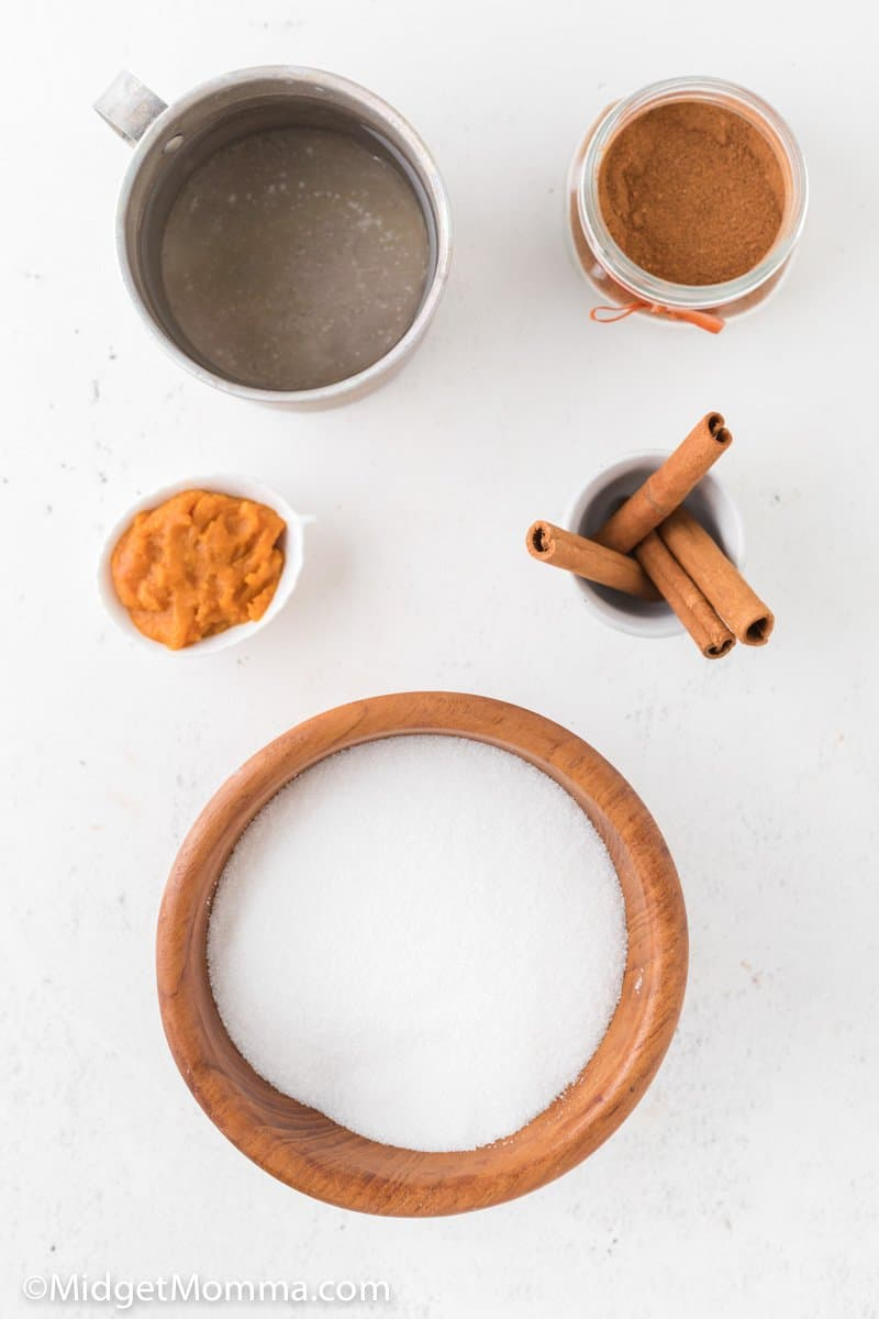 Homemade pumpkin spice syrup ingredients