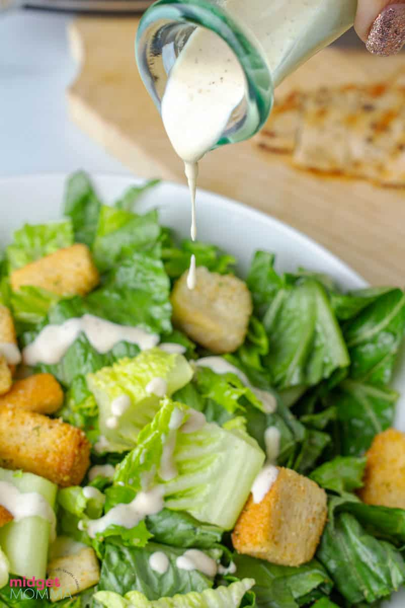 Caesar Salad with Chicken and Homemade Caesar dressing