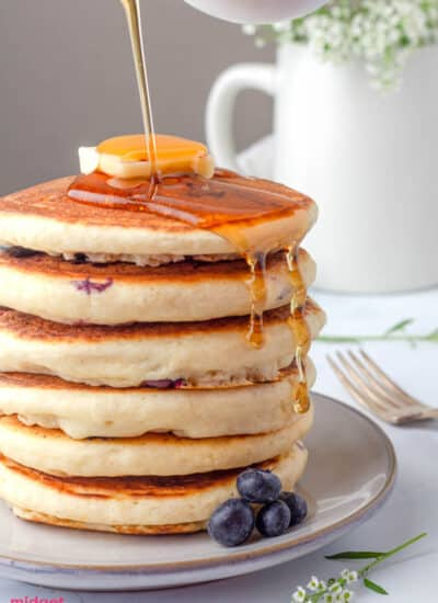 Homemade Blueberry pancakes
