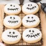 Jack Skellington Halloween Sugar Cookies