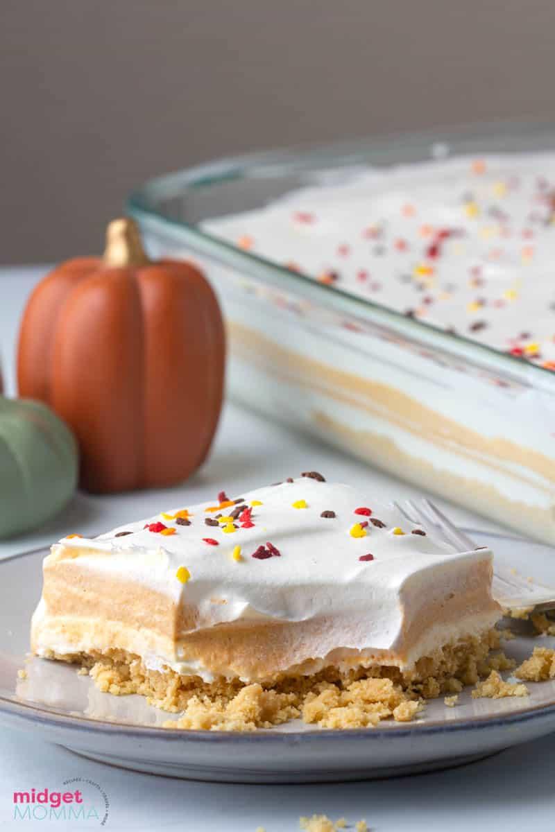 No Bake Pumpkin Lasagna Dessert