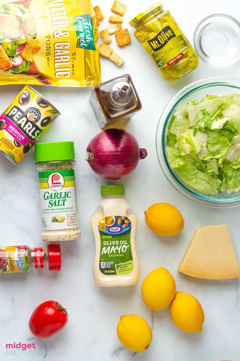 Olive Garden Salad Recipe ingredients