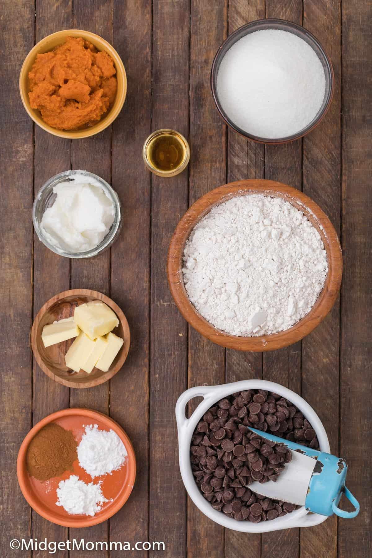 Pumpkin Chocolate Chip Cookies Recipe ingredients