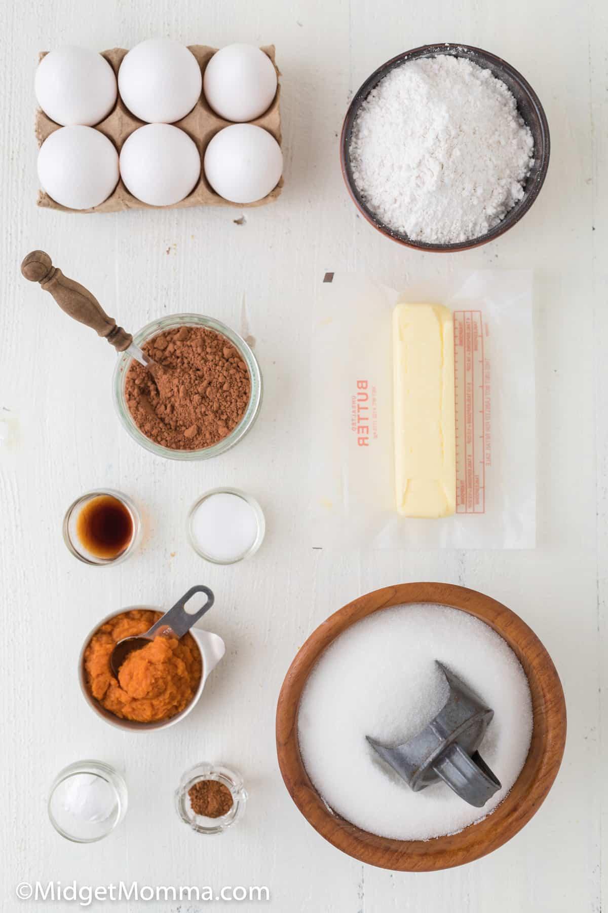 pumpkin brownies  ingredients