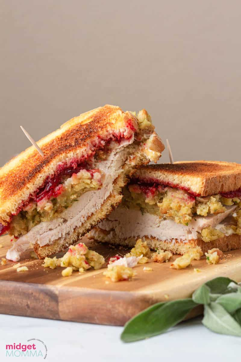 I love Thanksgiving and I love all the tasty foods we make to enjoy, but I really love the amount of leftovers we end up with that makes for even more amazing tasty recipes to make with it. There are so many things to make with Thanksgiving left overs, but this Turkey Gobbler Sandwich is my favorite. Looking for more Thanksgiving leftover recipes? Be sure to check these out! Turkey Noodle Soup